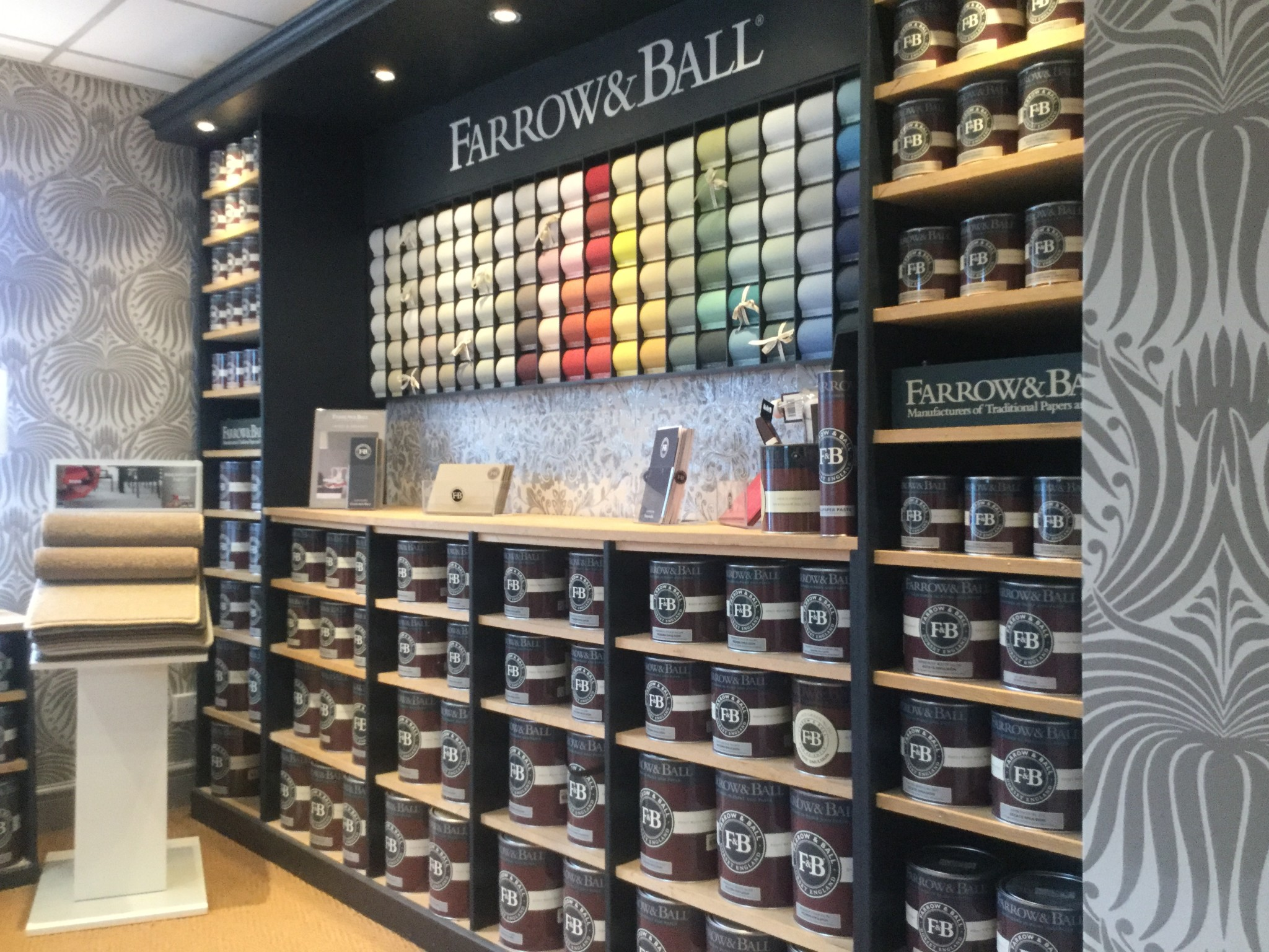 The shop interior designer in lancashire farrow and for Homedepot colorsmartbybehr com paintstore