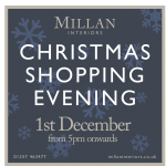Christmas Shopping Event – December 1st from 5pm