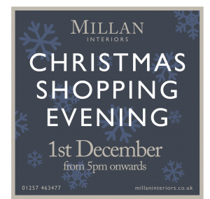 Millan Interiors - Christmas Shopping Evening - 1st December from 5pm